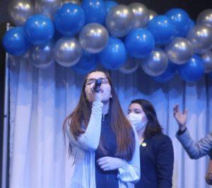 Me Singing at Church Camp